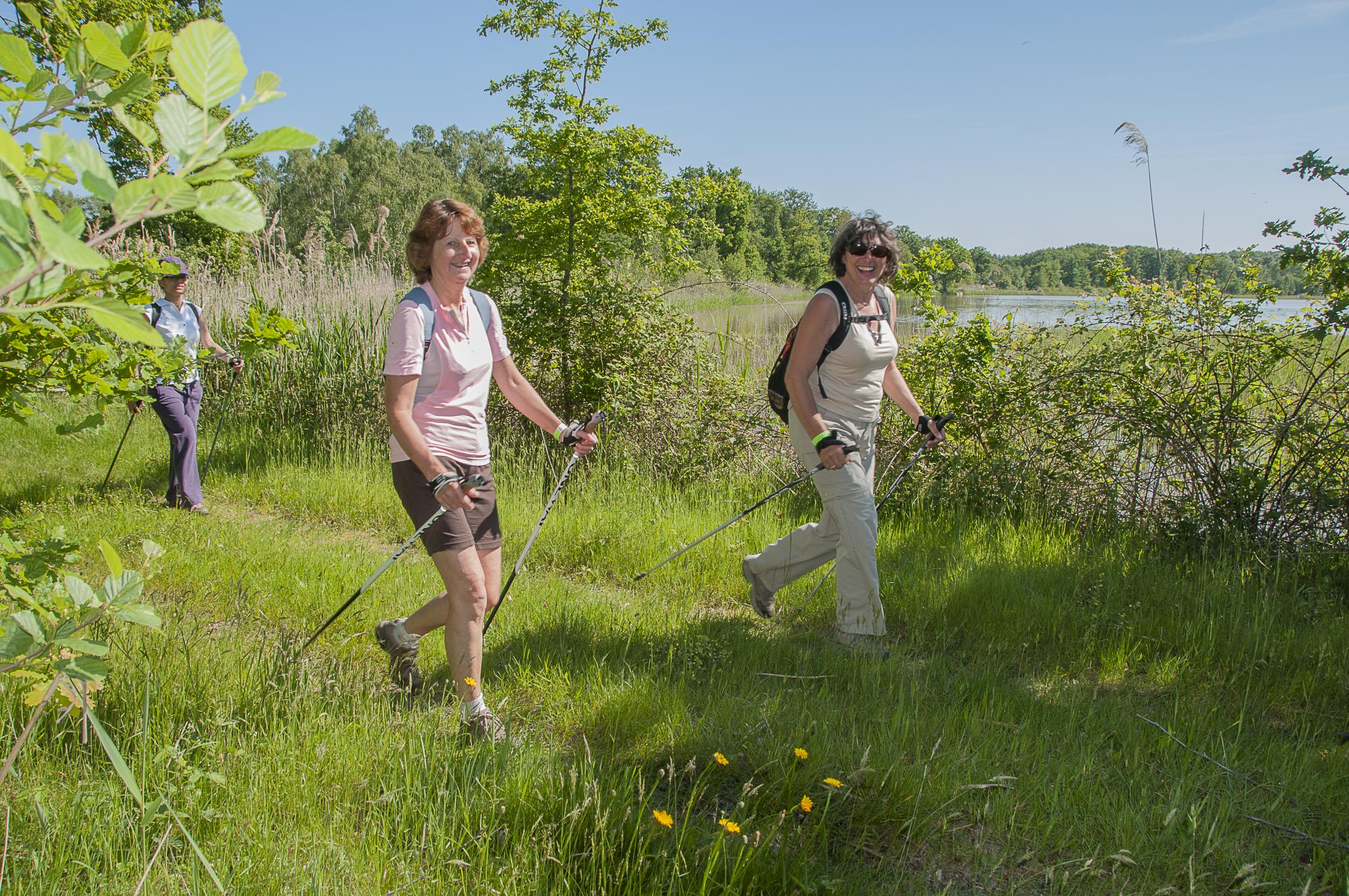 16 Nordic Sologne 2014 sur le 12 km au bord de l'étang de la Grande Motte